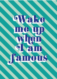 Wake me up when i am famous (postkaart)