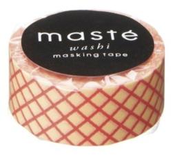 masking tape - zalm rood ruitje