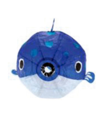 japanese paperballoon - blauwe vis