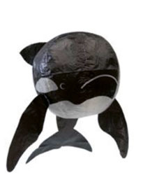japanese paperballoon - zwarte walvis