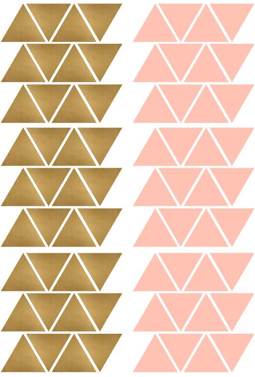 driehoekjes roze goud