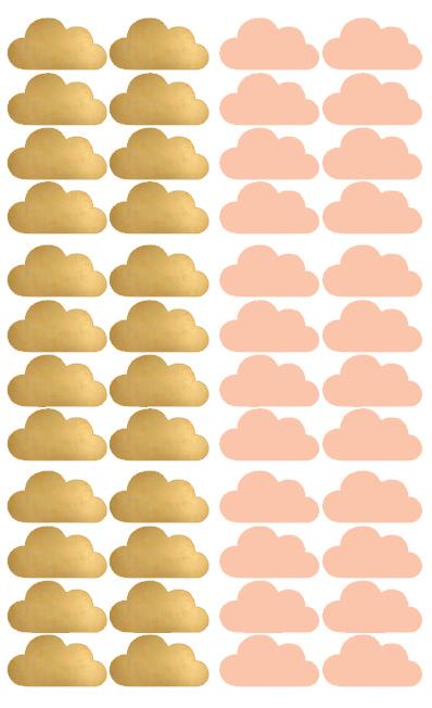 wolken roze goud
