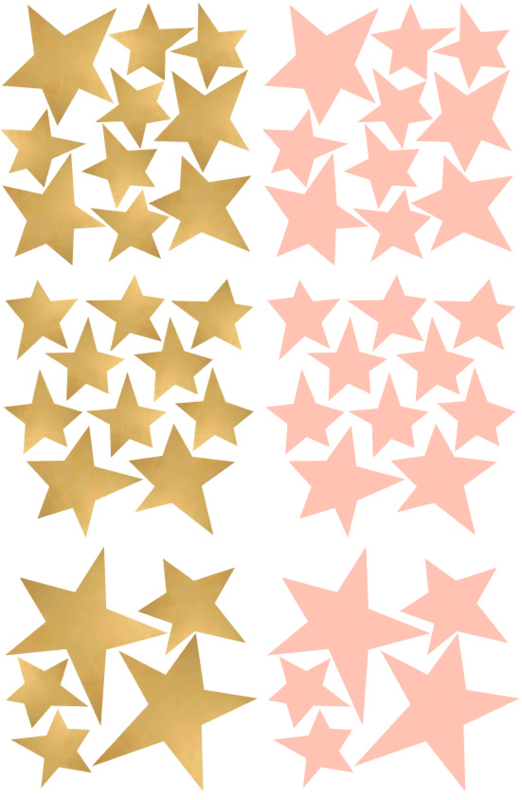 sterren goud en roze