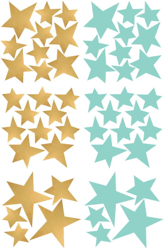 sterren mint en goud