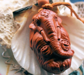 Rosewood Sleutelhanger/Hanger: Olifant God Ganesha