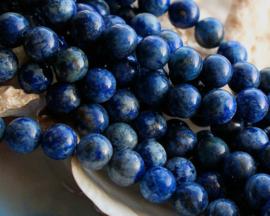 set/6 kralen: prachtig Lapis-Blauwe Jaspis - 8,5 mm