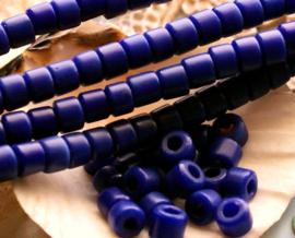 set/20 ANTIEKE TRADE BEADS Handelskralen: Afrika Bapterosse Prosser - ca 5,5 mm - Blauw