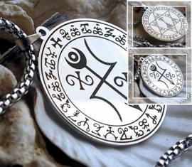 Amulet Hanger (42 mm) aan Ketting - RVS - Symbolen