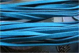 Imitatie Suède Veter - 5 meter lang - 3x1 mm Plat - Turquoise Kleur