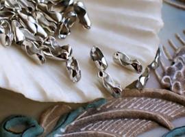 Ball Chain: 1 Slotje  voor 2 mm balletjes ketting - Antiek Zilver Kleur