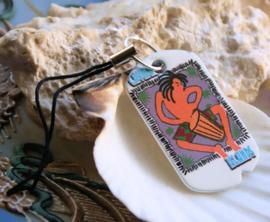Strap Sleutelhanger/Tas hanger: Vintage Tag -  Kayman Islands Conga