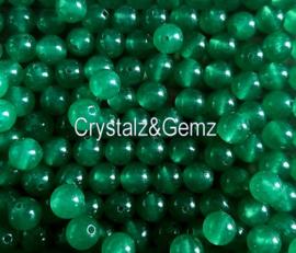 set/6 kralen:  echt Agaat - Rond - 8 mm - Celadon Groen