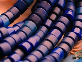 set/10 ANTIEKE TRADE BEADS Handelskralen: Afrika Bapterosse Prosser - ca 8 mm - Blauw tinten