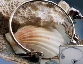 SKULL Schedels Armband - verstelbare maat - Antiek Zilver Kleur