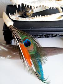 Ornament: Ree-kaakje met Veren & Stekelvarken Stekels (liggen of hangen)