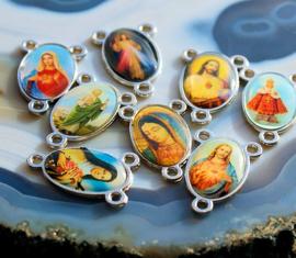 1 Hanger/Tussenstuk/2-1 Verdeler: Icoon - Maria (Magdalena) Jezus Religieus - 24 mm