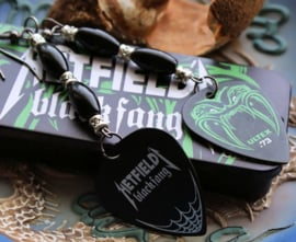 C&G Oorbellen: Hetfield Metallica Black Fang Guitar Picks + Onyx