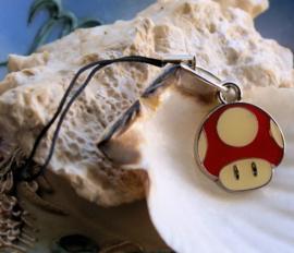Strap Sleutelhanger/Tas hanger: Mario Super Mushroom - Paddenstoel