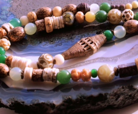 C&G Collier: Antieke Afrikaans Tradebeads - Ashanti - Jade - Bone - Agaat - Prayerbeads