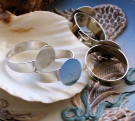 set/3 Ringen voor Cabochons - Plak Ringen - Verstelbaar - Zilver Kleur - 12 mm plakstuk