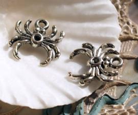 1 Bedel: Spin - 17 mm - Tibetaans Zilver