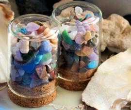 Mineral Dome: Stolpje/Kurk-Flesje boordevol Edelsteentjes