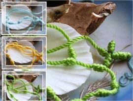 Braziliaanse Decenarios Armband - Geel of Groen of Licht-Blauw - Geknoopte Rozenkrans