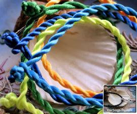 Set/5 Koord Armbanden - ca 20 cm - Mix 5 - ook leuk voor bedels