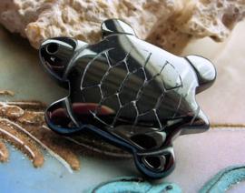 Hanger: Schildpad van Hematiet - 27 mm