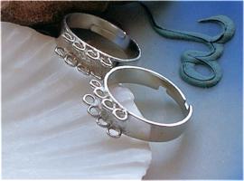 Ring om te decoreren - Verstelbaar - Zilver Kleur