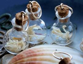 C&G Bone Vial Hanger: Botjes/Kaakje in Glazen Flesje - 40 mm