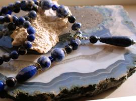 C&G Collier: Prachtig Lapis Lazuli & Sodaliet - Rapsody in Blue