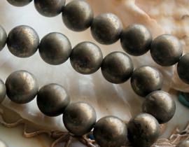 set/5 bijzondere kralen: echt IJzer-Piriet - Rond - 8,2 mm