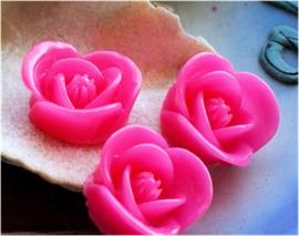 1 Cabochon van Kunststof: Roos - 17 mm - Roze