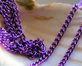 Ketting Armband basis - 100 cm - 4x2,5 mm Schakel - Violet Paars