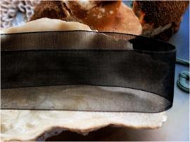 Organza Lint - Per 4 meter lengte - 20 mm breed - Zwart