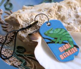Strap Sleutelhanger/Tas hanger: Vintage Tag - Miami Metrozoo Kameleon