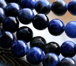 set/6 Kralen: echt Sodaliet - Rond - 8,5 mm - tinten Blauw