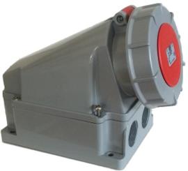 CEE 63A wand contactdoos 380V - 400V AC IP67