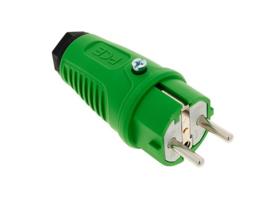PCE Taurus2 rubber stekker groen 230V