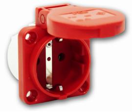 Inbouw contactdoos rood 230V 16A IP54