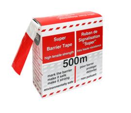 Afzetlint markeringslint rood wit 500 meter