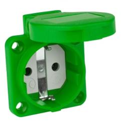 Inbouw contactdoos groen 230V 16A IP54