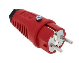 PCE Taurus2 rubber stekker rood 230V