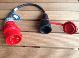 CEE 16A verloop adapter professioneel 400V IP44