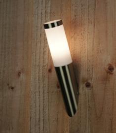 rvs buiten wandlamp type schuin 230V
