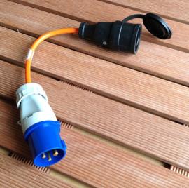 CEE 16A camping verloop stroom adapter 230V