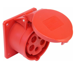CEE 16A opbouw contactdoos 380V - 400V 75x75mm