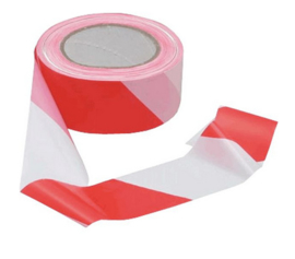 Afzetlint markeringslint rood wit 100 meter