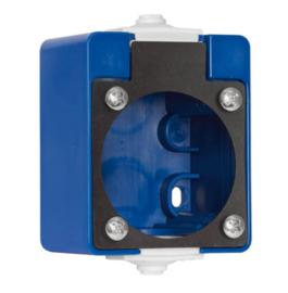 PCE behuizing blauw voor inbouw contactdoos 230V